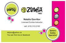Zumba business cards best business cards zumba teak printing reheart Gallery